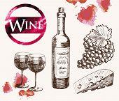 foto of sketch  - old wine tasting - JPG