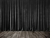 pic of ceremonial clothing  - presentation background with soft curtains of velvet - JPG