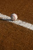 image of infield  - Baseball in the Infield - JPG