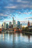 image of frankfurt am main  - Frankfurt am Maine Germany cityscape at sunrise - JPG