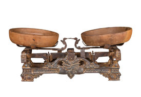 image of levers  - antique scales with cups metal lever type - JPG