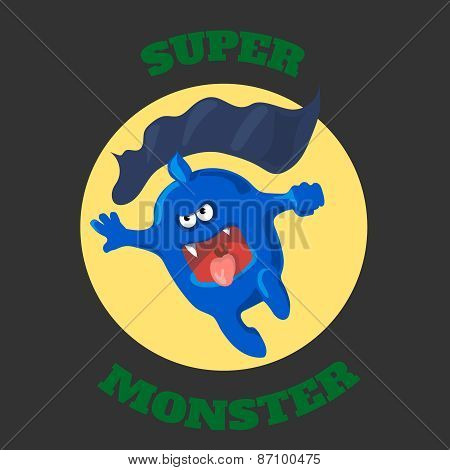 cute monster T-shirt graphics, cute cartoon characters graphics for kids or Book illustrations. text
