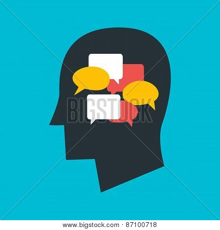 Man With Thoughts In His Head