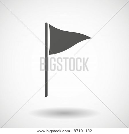 Grey Golf Flag