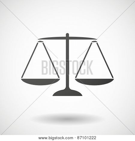 Grey Weighing Scale Icon