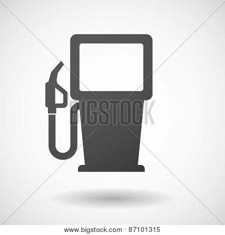 Grey Gas Pump Icon
