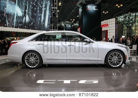 NEW YORK - APRIL 1: Cadillac exhibit Cadillac CT 6 at the 2015 New York International Auto Show during Press day,  public show is running from April 3-12, 2015 in New York, NY.