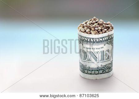 Hemp Seeds In One Dollar Barrel