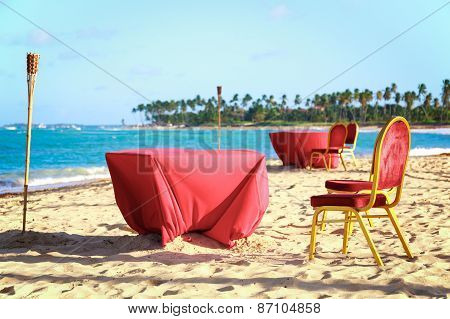 Dinner Table On The Beach