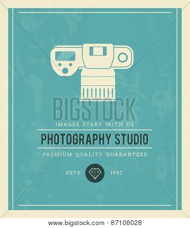 Vintage Poster For Photography Studio