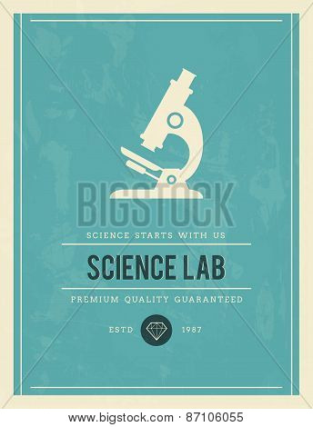 Vintage Poster For Science Lab