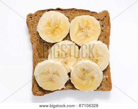 Banana Toast Isolated