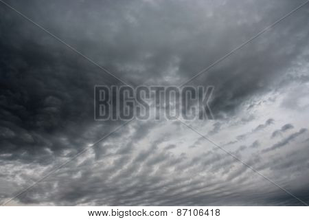Storm Clouds Over Horizon.
