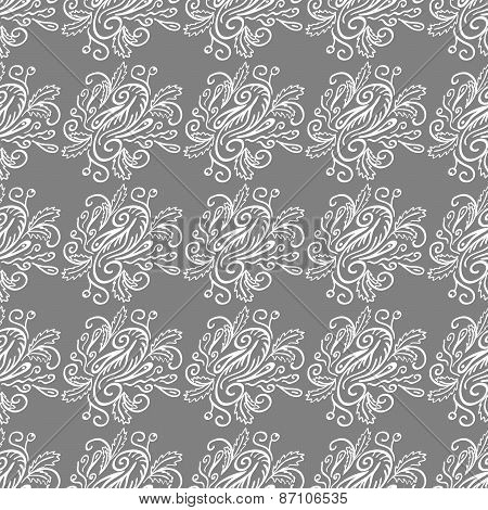 Seamless Pattern With Natural Ornament-2