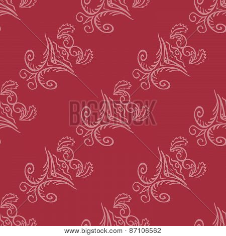 Seamless Pattern With Natural Ornament-4