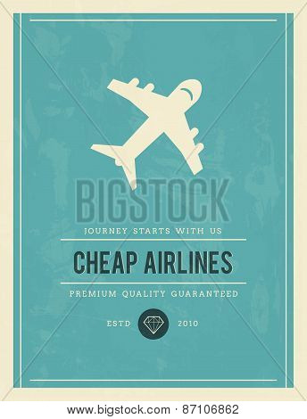 Vintage Poster For Cheap Airlines