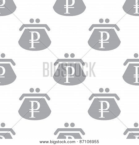 New Rouble purse seamless pattern