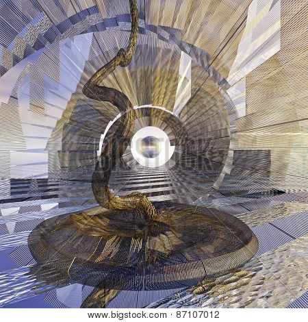 Symbolic Representation Of A Wormhole