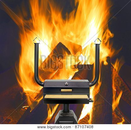 Multifunctional Cooking Oven, Flames.