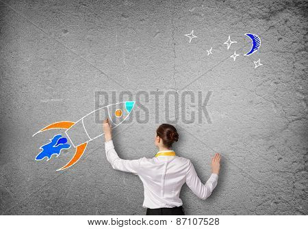 Flying rocket