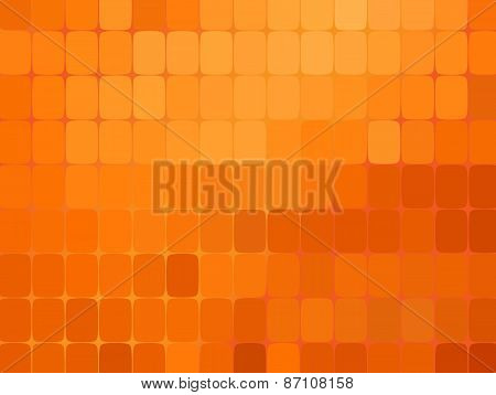 Abstract orange mosaic background