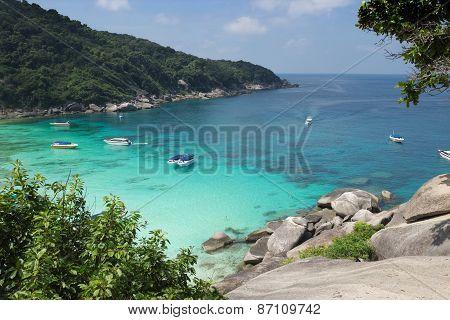 Beautiful And Cosy Bay Of The Andaman Sea. Thailand