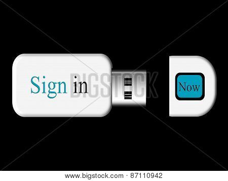sign in with a usb flash drive