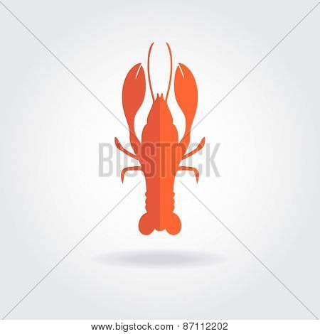 Lobster logo template. Vector design for seafood restaurent