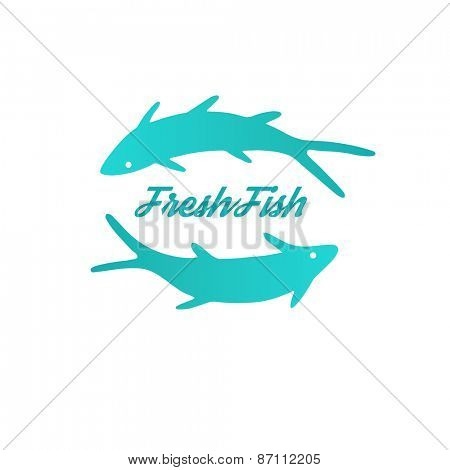 Fish  logo template. Vector design concept. Good idea for seafood restaurant or cafe.