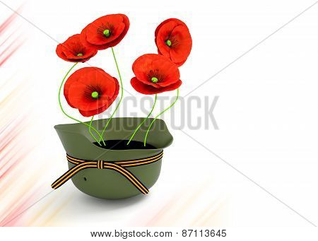Red Poppies . May 9 Victory Day