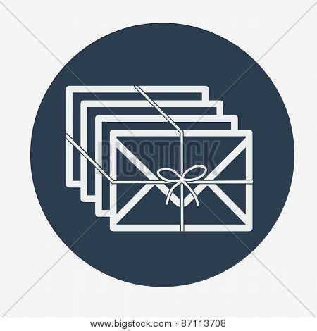 Single flat mail icon. Vector illustration.