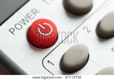 Red Power Button On The Remote Control