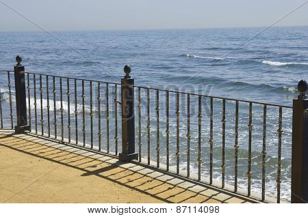 Handrail  In The Promenade Of Marbella