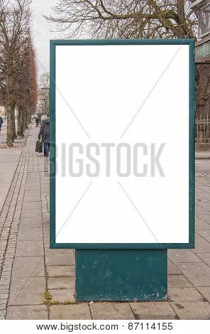 Blank Billboard In City Centre