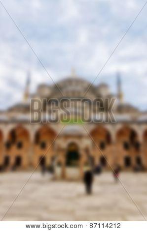 Blurred Background Blue Mosque