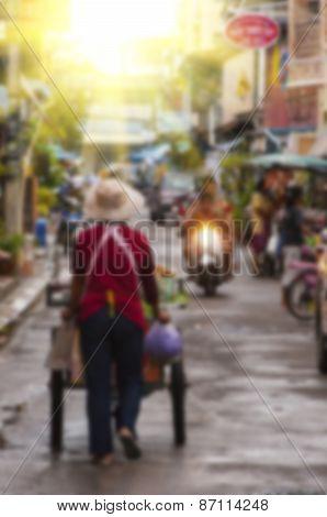 Blurred Background Street Scene