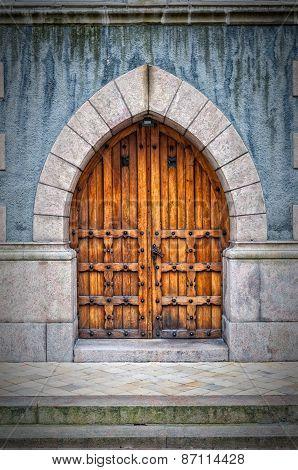 Wooden Archway Doors