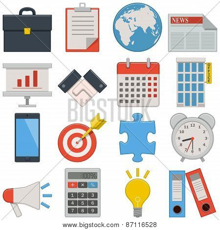 Vector Flat Icons - Business