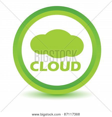 Green cloud icon