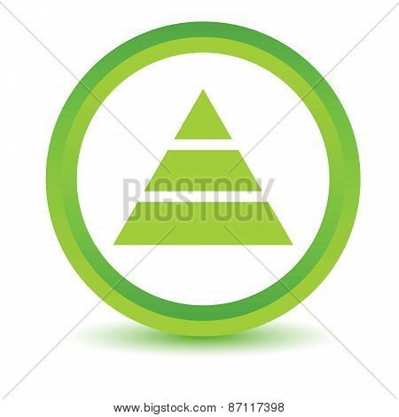 Green pyramid icon