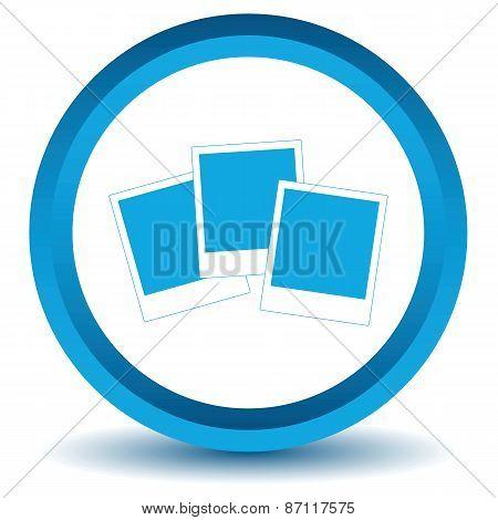 Blue photo icon