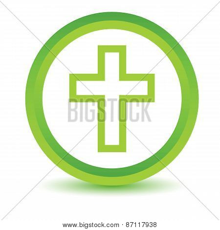 Green Protestant Cross icon