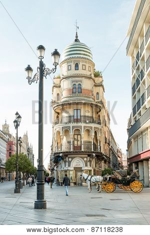 Street corner in Seville
