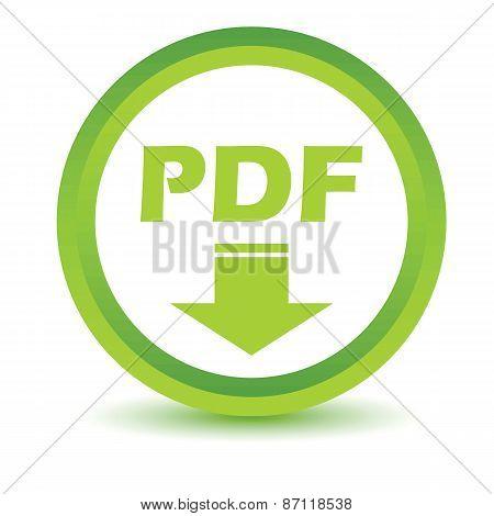 Green Pdf icon