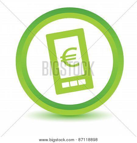 Green euro phone icon