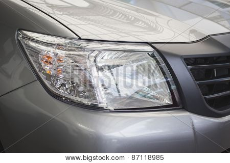 Front Light Of New Car
