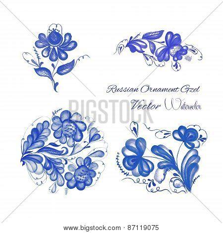 Russian ornament gzel