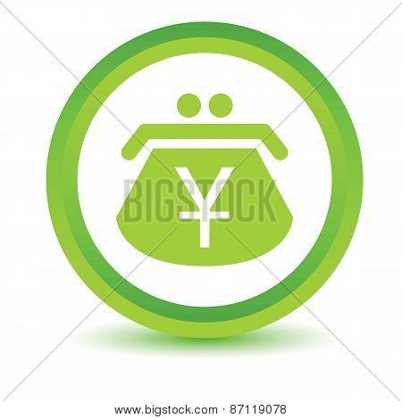 Green Yen purse icon