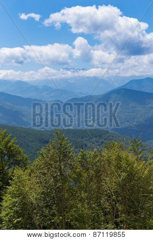 View Of The Pyrenees At Biert