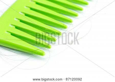 Green Comb With Hair